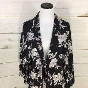 SPIRITUAL GANGSTER Floral Kimono Robe Like New